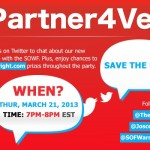 Partner4Vets Twitter Party Flyer (Red)2