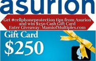 Protect Your CellPhones and Vacation Plans with Asurion and $250 Cash Gift Card Giveaway
